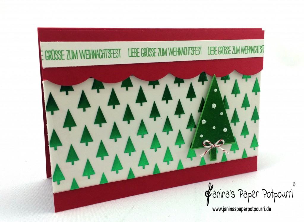 jpp - red and green Christmas Card