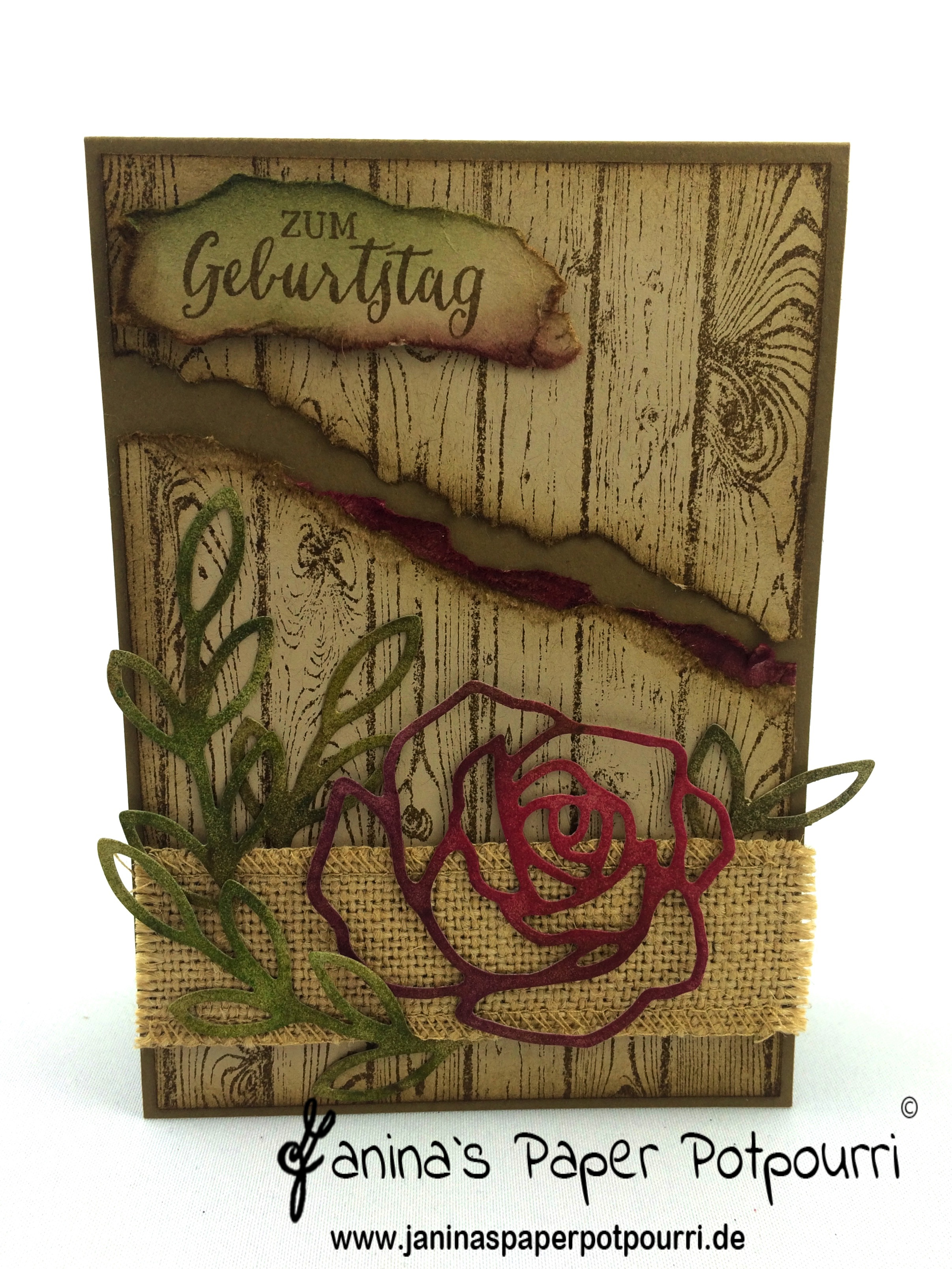 Rustic Rose Birthday Cards