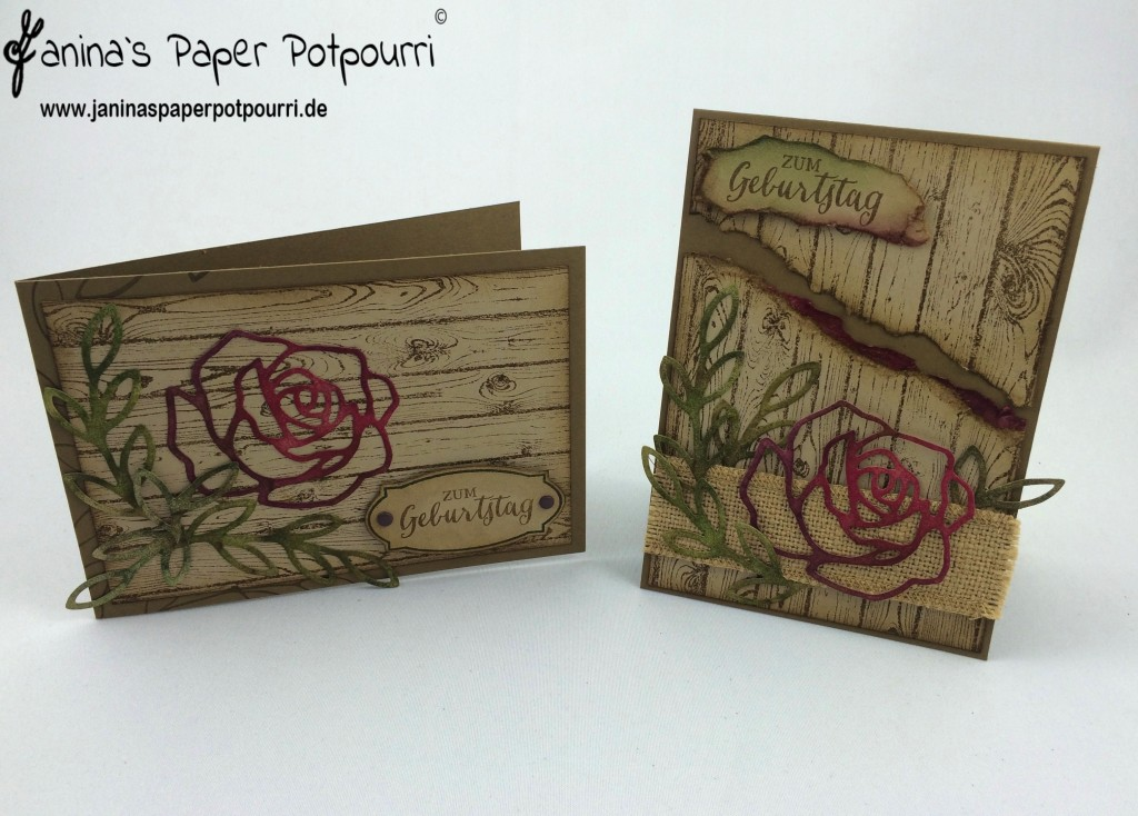 jpp - rustic rose Birthday card