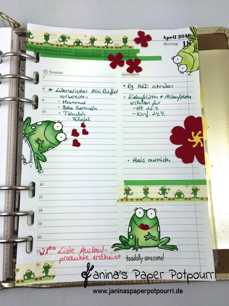 jpp - filofax kiss the frog