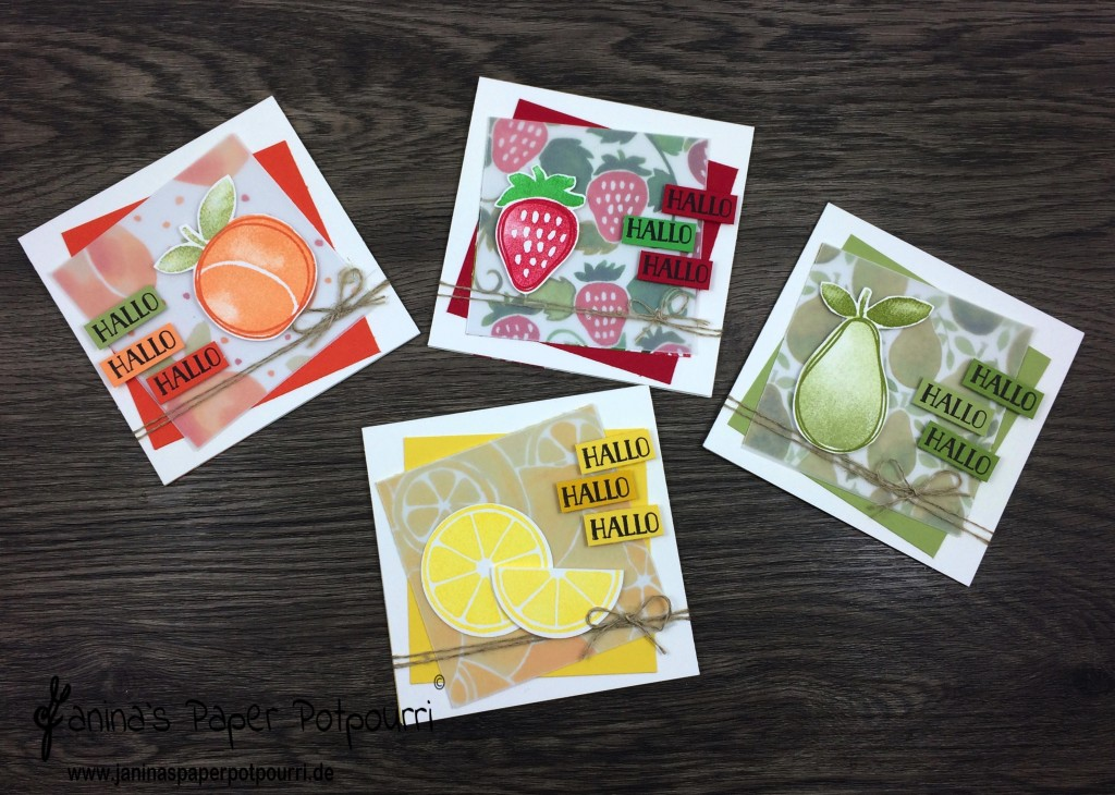 jpp - Fruity Mini Cards