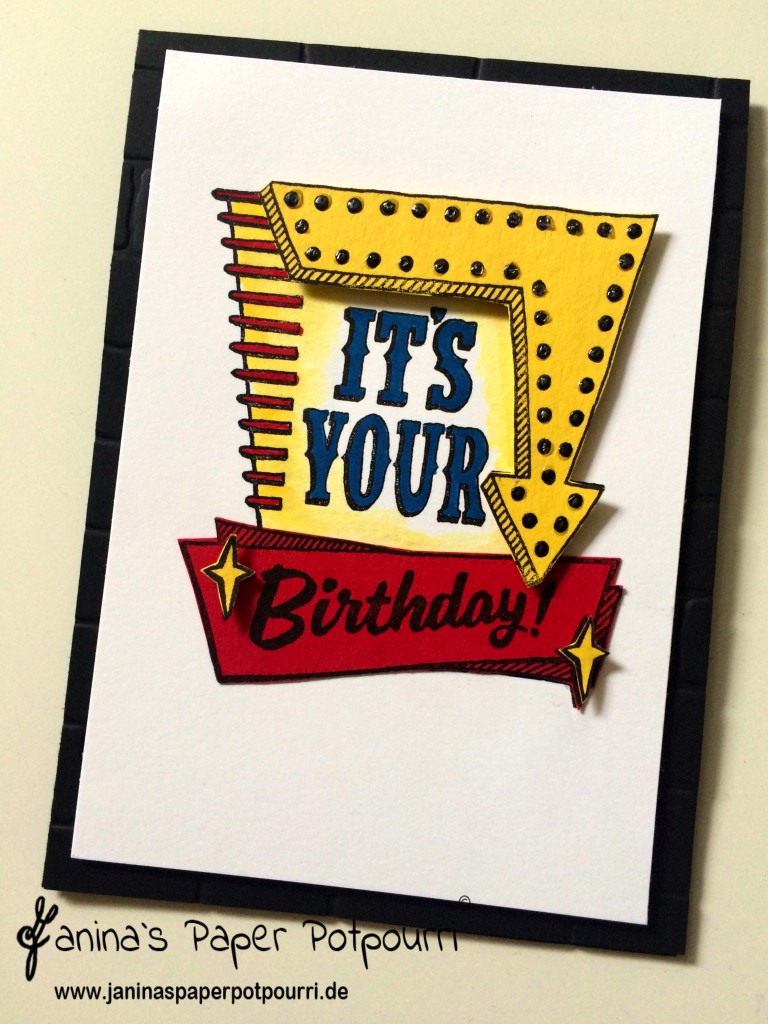 jpp - Marquee Message Birthday Card