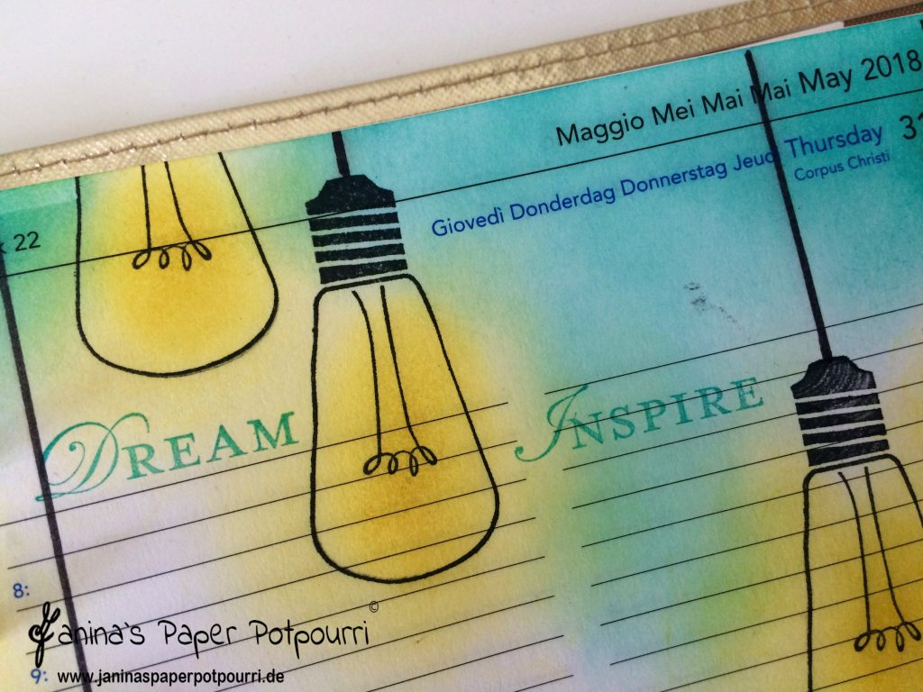 Filofax Deko mit Watts of Occasions von Stampin' Up!